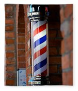Barber Pole Fleece Blanket