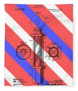 Barber Pole Patent Fleece Blanket
