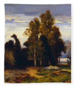 Barbizon Landscape Fleece Blanket