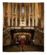 Barcelona Cathedral High Altar And St Eulalia Crypt Fleece Blanket