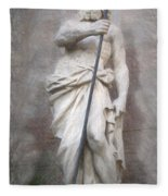 Barcelona - Neptune Statue Fleece Blanket