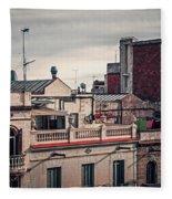 Barcelona Roofscape Fleece Blanket