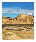 Bardenas Desert Panorama 3 Fleece Blanket