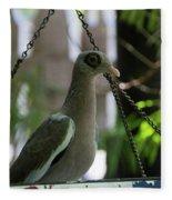 Bare Eyed Pigeon Fleece Blanket