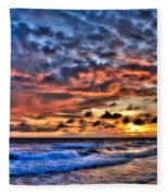 Barefoot Beach Sunset Fleece Blanket