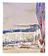 Barefoot In The Sea Fleece Blanket