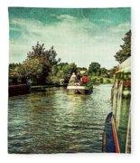 10946 Cruising On The Grand Union Canal Fleece Blanket
