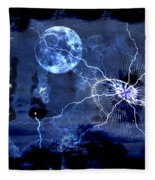 Bark At The Moon Fleece Blanket