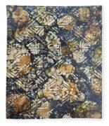Bark Batik Ink #22 Fleece Blanket