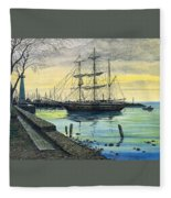 Bark Carthaginian Robert Lyn Nelson Fleece Blanket