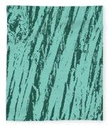 Bark Texture Turquoise Fleece Blanket