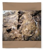 Bark-vision On Abstraction Theme  Fleece Blanket