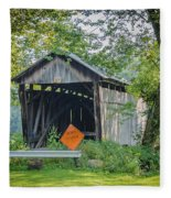 Barkhurst Covered Bridge  Fleece Blanket