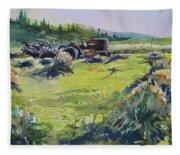 Barley Harvest Fleece Blanket