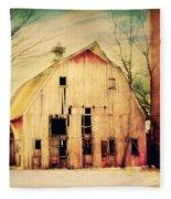 Barn For Sale Fleece Blanket