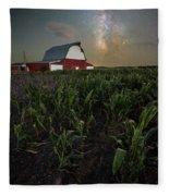 Barn Astronomy 2  Fleece Blanket
