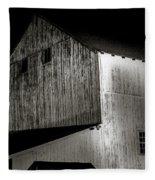 Barn At Night Fleece Blanket