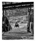 Barn Chores Fleece Blanket