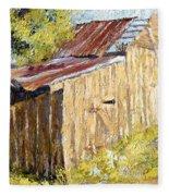 Barn Door Fleece Blanket