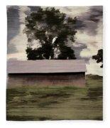 Barn II A Digital Painting Fleece Blanket