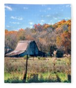 Barn In Liberty Mo Fleece Blanket