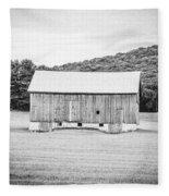 Barn In Meadow Fleece Blanket