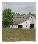 Barn In The Field 948 Fleece Blanket