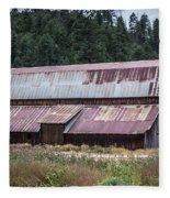 A Colorado Barn In Summer Fleece Blanket