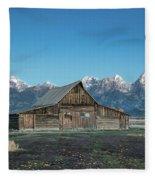 Barn On Mormon Row Fleece Blanket