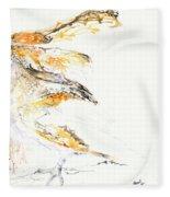 Barn Owl And Tree Fleece Blanket
