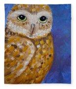 Barn Owl- Impressionism- Owl By Night Fleece Blanket