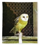 Barn Owl On The Prowl Fleece Blanket