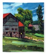 Barn Roofs Fleece Blanket