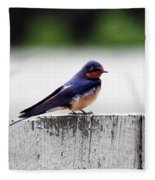 Barn Swallow At Fort Larned Fleece Blanket