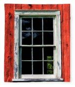 Barn Window Closeup At Old World Wisconsin Fleece Blanket