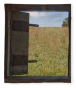 Barn Window View Fleece Blanket