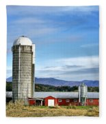 Barn With A View Fleece Blanket
