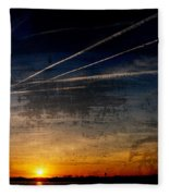 Barnegat Bay Sunset - Jersey Shore Fleece Blanket