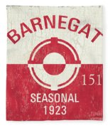 Barnegat Beach Badge Fleece Blanket
