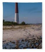 Barnegat Lighthouse Nj Fleece Blanket
