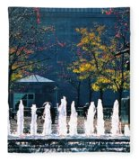 Barney Allis Plaza-kansas City Fleece Blanket