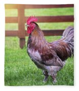 Barnyard Rooster Fleece Blanket