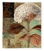 Baroque Hydrangea Patchwork Fleece Blanket
