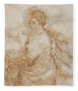 Baroque Mural Painting Fleece Blanket