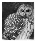 Barred Owl Beauty Fleece Blanket