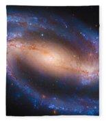 Barred Spiral Galaxy Ndc 1300 Fleece Blanket