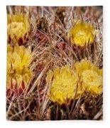 Barrel Cactus Flowers 2 Fleece Blanket