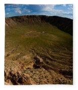 Barringer Meteor Crater #3 Fleece Blanket