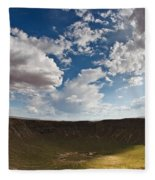 Barringer Meteor Crater #4 Fleece Blanket