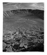 Barringer Meteor Crater #7 Fleece Blanket